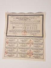 Récépissé provisoire OTTOMAN 1914 et Exposition Bon a lot de 50 Francs 1925.
