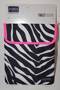 NEW Set 3 Jansport Zebra Black Sleeve Bag Cases Envelope Apple iPad HP Tablet