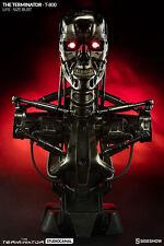 SIDESHOW Terminator Endoskeleton T-800 life-size bust HUGE!