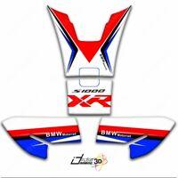 KIT 4 ADESIVI 3D SERBATOIO COMPATIBILI BMW S1000XR 00180 BIANCO ROSSO BLU
