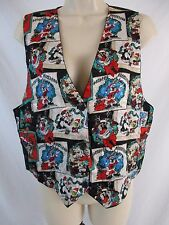 Looney Tunes Christmas Womens One Size Bugs Bunny Taz Tweety Button Vest CB28B