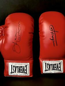 Joe Frazier and Ken Norton Lot of 2 Signed Boxing Gloves Autographed OA and SSG