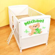 Kinderbett Juniorbett umbaubar mit dem Namen ihres Kindes 140x70