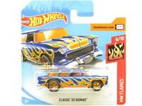 Hotwheels Classic 55 Nomad HW Flames 146/365 Short Card 1 64 Scale Sealed New