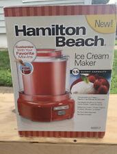 New ListingHamilton Beach Ice Cream Maker, 1.5-Quart, Red (68881Z)