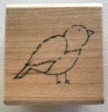 "JRL Rubber Stamp Little Bird Drawing 1.25 x 1"""