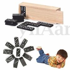 28 pcs Dominoes Set Wooden Box Traditional Board Travel Domino Game Toy Kid Gift