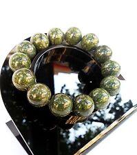 Bracelet Minéral Jaspe Vert en Pierre Naturelle Lithothérapie Bijoux pour Femme