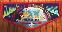 NANUK LODGE 355 OA WESTERN ALASKA COUNCIL AK 523 549 2016 CONCLAVE SERVICE FLAP