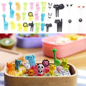36 Pcs Mini Kids Animal Food Fruit Picks Forks Lunch Box Accessory Decor Tool CH