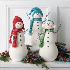 Snowman Figures 17in Christmas Winter Decoration Set 3 rzchtt 3616525 NEW RAZ