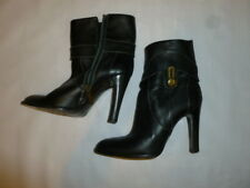 BCBG Maxazria Vero Cuoio Italian leather size 8B black boots   AS IS  SEE BELOW
