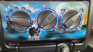 VW Polo 6N Heizungsbedienteil Heizung Gebläse, Blaue LED, Airbrush, Top!