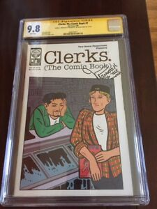 CLERKS #1 CGC 9.8 SS JASON MEWES SIGNED 1ST PRINT KEVIN SMITH CULT MOVIE SIGN
