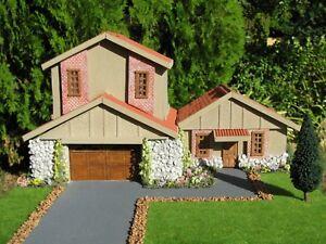 1/64 SCALE SCRATCHBUILT HOUSE DIORAMA BUILT BY ADAM GORMAN!!