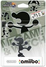 NINTENDO AMIIBO Mr. Game & Watch Super Smash Bros. Series Character Figure