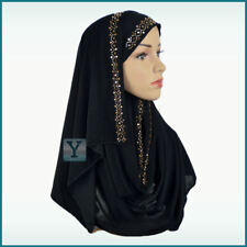 1 Piece Hijab ✿ Ready Made Pull on Scarf Jersey Instant Pin free Amira islamic