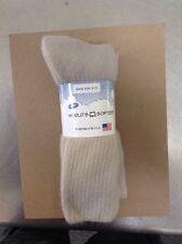 World's Softest Socks MADE I USA 3 Tan Crew MENS Shoe Size9-12Ladies shoe 10-Up