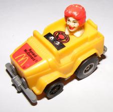 1985 Ronald McDonald Fast Macs Pull Back Friction Car Toy
