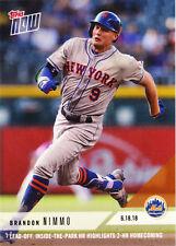 Brandon Nimmo New York Mets 14.70 Inside the Park HR 6.18.18 2018 Topps NOW 338
