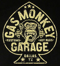 GAS MONKEY GARAGE T-shirt ACES HIGH Hot Rods Tee Adult 2XL XXL Black New