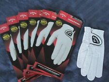 6 CALLAWAY MEDIUM FOR LEFT HAND GOLFER DAWN PATROL LEATHER GOLF GLOVES NEW MENS