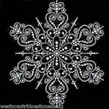 Intricate Snowflake Rhinestone Iron on Transfer   3RPE