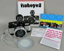 Lomography FISHEYE2 Point & Shoot 35mm Film Camera w/ Box & Papers, CLEAN