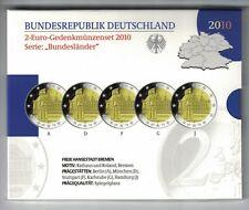 BRD 5 x 2 euro 2010, SET A/D/F/G/J, Brema, * PP/Proof *, OVP (17412)