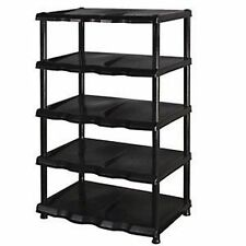 5 Tier Plastic Shoe Rack Shelf Organiser Storage Shelves Lobby Porch Entrance #