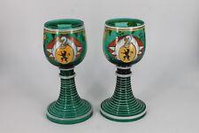 Deux verres anciens aux armoiries des Pays-Bas