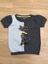Girls M&S Knitted Cat Detail Top 9-10 Years