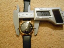 Vintage Oris Gold Plated Wristwatch. Unusual Black Face/Dial. Sub Seconds.