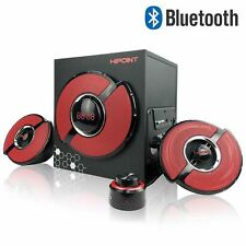 Hi-Point Multimedia Gaming 2.1 Speaker Black&Red For PC Laptop Wired/Bluetooth