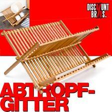NEU █ GESCHIRR-ABTROPFGITTER Abtropfgestell aus Bambus 42cm