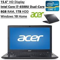 """Acer Aspire 15.6"""" Laptop Intel Core i7-6500U 8GB RAM 1TB HDD DVDRW HDMI Webcam"""