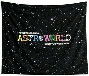 Greetings From ASTROWORLD Wish You Were Here Tapestry, Wall Hanging Travis Scott