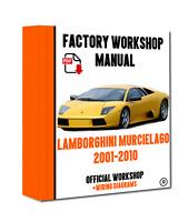 OFFICIAL WORKSHOP Manual Service Repair Lamborghini Murcielago 2001 - 2010