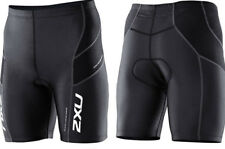 New 2XU Men Endurance Aero Triathlon Short Tri Shorts Swim Bike Run Black XXL
