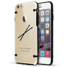 For Apple iPhone SE 5s 6 6s 7 8 Plus Slim Clear TPU Hard Case Cover Drum Sticks