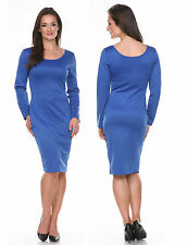 Sexy Ladies MISSY SIZE Fashion Bodycon Party Cocktail Evening BLUE LARGE Dress