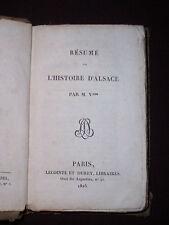 Résumé de l'histoire d'Alsace