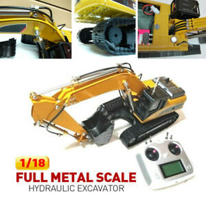 1/18  FULL Metal Scale Hydraulic Excavator RTR  w / FSi6  2.4G