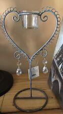 Footed Table Dresser Candle Tea Light Single holder Heart Shape Wall Decor 30cm