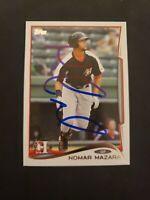 2014 Topps Pro Debut Nomar Mazara #120 Texas Rangers Autograph on Card