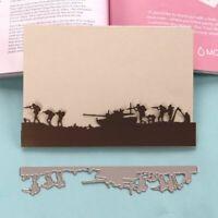 Military Metal Cutting Dies Army Marines Tank Stencil DIY Scrapbook Paper Album