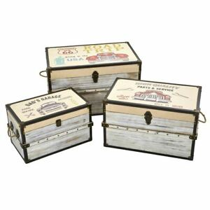 """MMulticolor Classic Car Collection Trunk and Storage Boxes (Set of 3) - 19 - 27"""""""