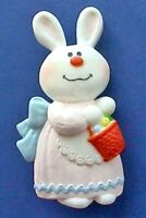 Hallmark PIN Easter Vintage BERNADETTE BUNNY RABBIT Holiday Brooch DATED 1975