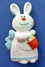 BUY1&GET1@50%~Hallmark PIN Easter BERNADETTE Bunny RABBIT Vtg Holiday-DATED 1975