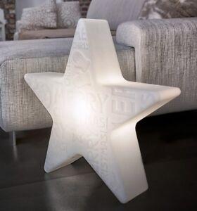 8 Seasons - Shining Star - Merry Christmas - Stern Weiß - Lampe Leuchte - Ø 60cm
